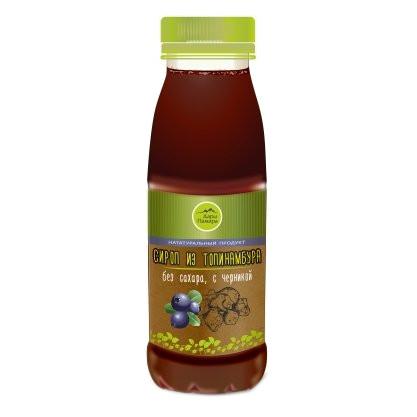 Натуральный сироп из топинамбура без сахара с черникой