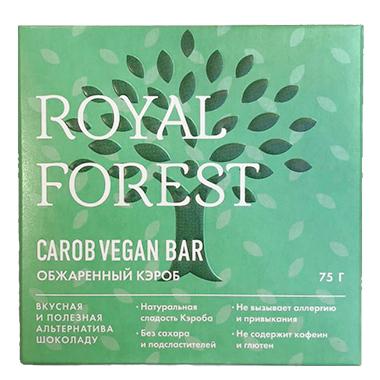 Веганский шоколад Royal Forest из обжаренного кэроба, 75 гр