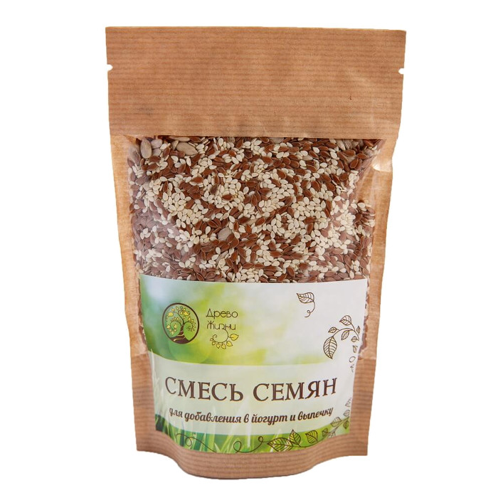 Смесь семян для добавления в йогурт и выпечку