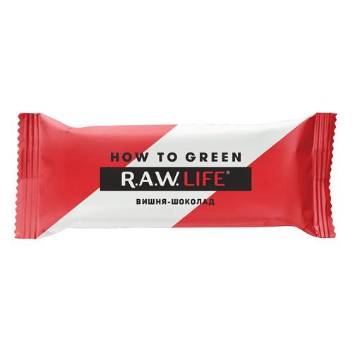 """Батончик орехово-фруктовый """"Вишня-шоколад"""" RAW Life"""