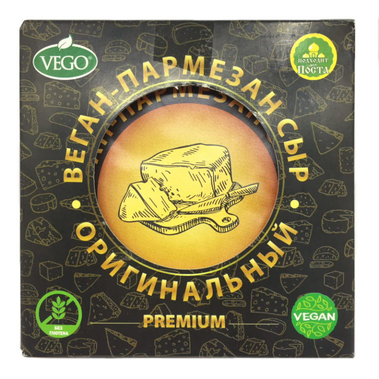 Сыр постный Веган-Пармезан оригинальный VEGO