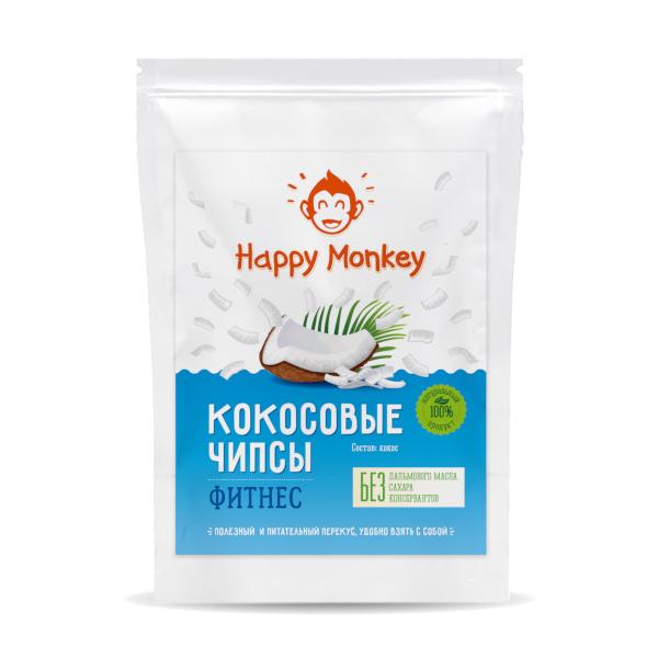 "Кокосовые чипсы ""Фитнес"" Happy Monkey"