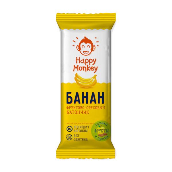 "Фруктово-ореховый батончик ""Банан"" Happy Monkey"