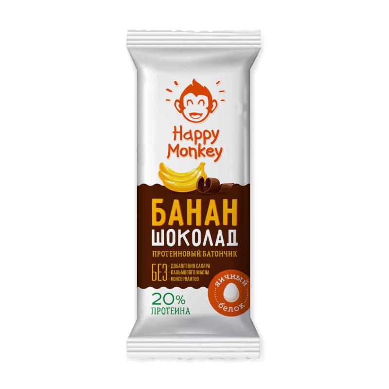 """Протеиновый батончик """"Банан и Шоколад"""" Happy Monkey"""