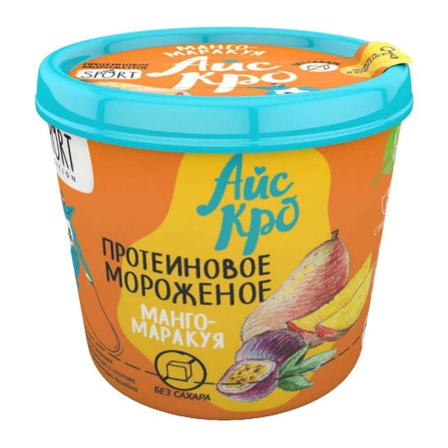 Мороженое «АйсКро» Сливочное с протеином Манго-Маракуйя без сахара, 75г