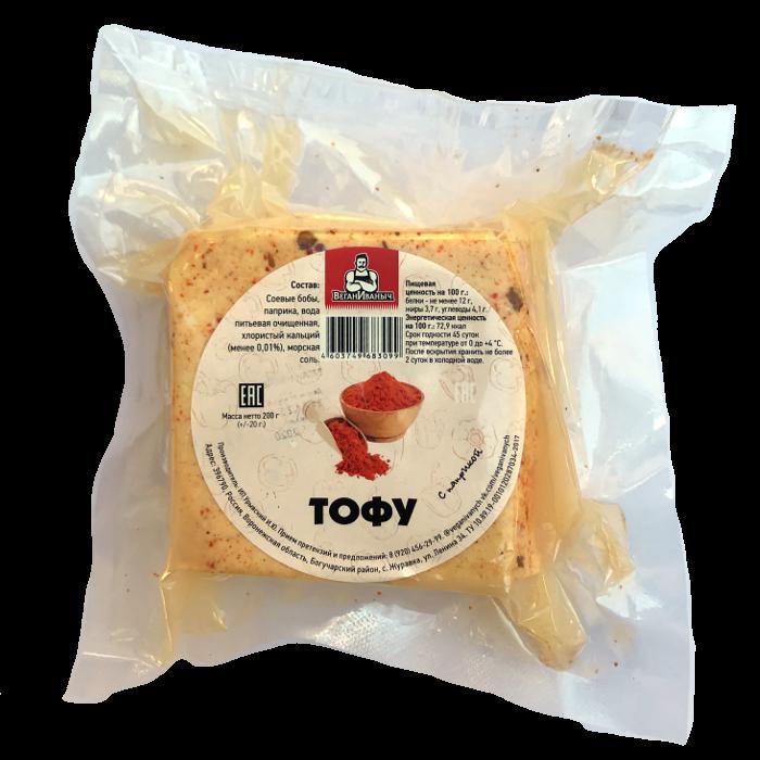 Тофу с паприкой Веган Иваныч