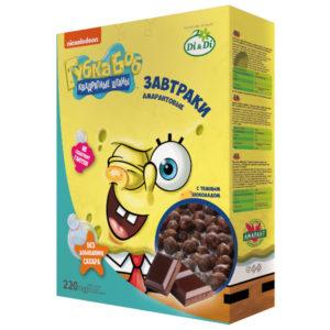Завтраки амарантовые Губка Боб в шоколадной глазури, витаминизированные